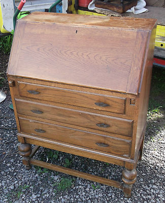 VINTAGE OAK BUREAU/DESK 30″WIDE ELEGANT PERIOD DESIGN SHABBY ANTIQUE