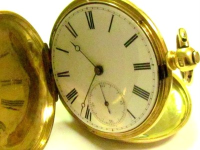 ANTIQUE 18K AND 14K SOLID YELLOW GOLD  PATENT LEVER   JAMES JAGUET POCKET WATCH