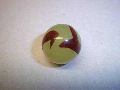 vintage marble akro agrate  mf christensen  corkscrew swirl yell wht or brn