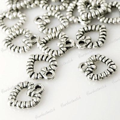 150pcs Vintage Antique Tibetan Silver Hearts Love Charms Fit Necklace TS0013