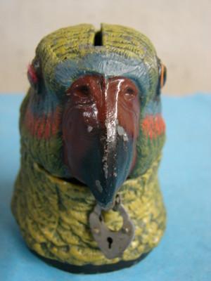 antique bank PARROT Bird