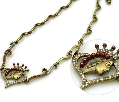 Rare Stardacious Princess Antique Style Pendant Necklace Top Quality C105