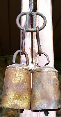 Antique Large Vintage Metal Cow Bells