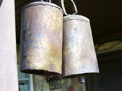 Antique Large Vintage Metal Cow Bells 1