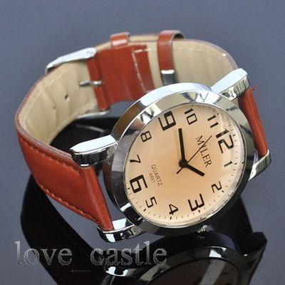 Antique Classic Mens Analog Quartz Wrist Band Watch
