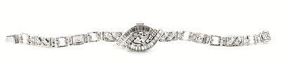 Hamilton Antique 18kt Diamond Deco Watch Ladies