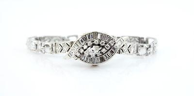 Hamilton Antique 18kt Diamond Deco Watch Ladies 1