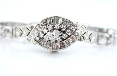 Hamilton Antique 18kt Diamond Deco Watch Ladies 2