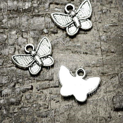 Tibetan Tibet Silver Vintage Antique Animal Butterfly Charm Pendant
