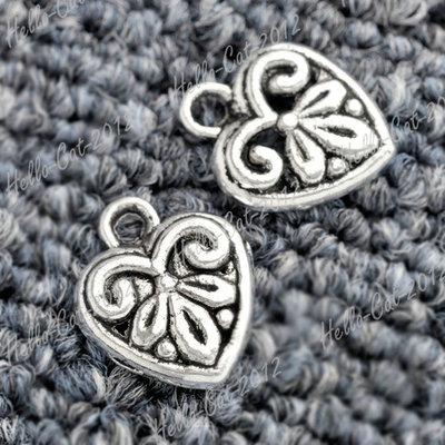 Tibet Tibetan Silver Antique Vintage Heart Love Charm Pendant