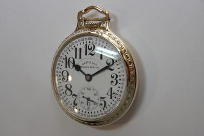 Vintage Hamilton Railroad Grade Pocket Watch 1