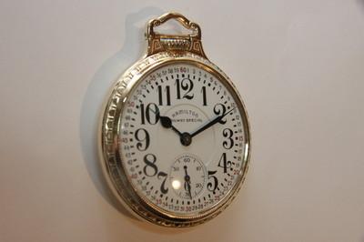 Vintage Hamilton Railroad Grade Pocket Watch 2