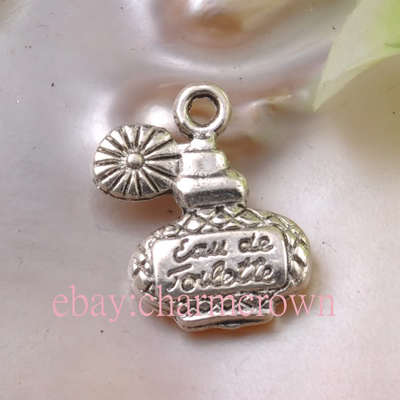 Antique Silver Perfume Bottle Charms