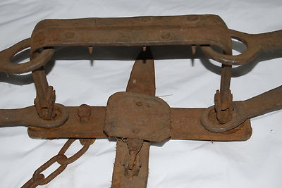 Antique Hand Forged Blacksmith Large Trap 1
