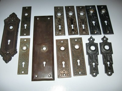 Old Vintage Antiquedoor Knob Lock Back Plates Steel Material And Brass