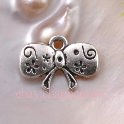 Antique Silver Bow Charms CC0385