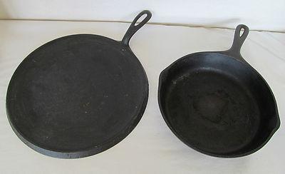 Antique Griswold 10 Cast Iron Frying Pan