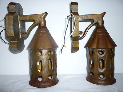 Antique Cast Iron Outdoor Wall Lamps Porch Lamps Fixtures 1