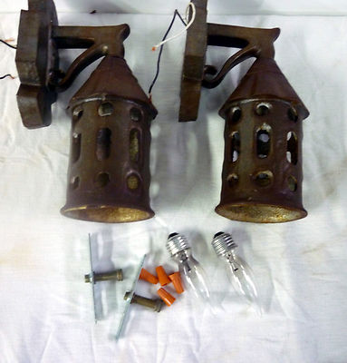 Antique Cast Iron Outdoor Wall Lamps Porch Lamps Fixtures 2