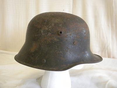 Antique Original 1916 German WWI Military Army Combat Steel Helmet