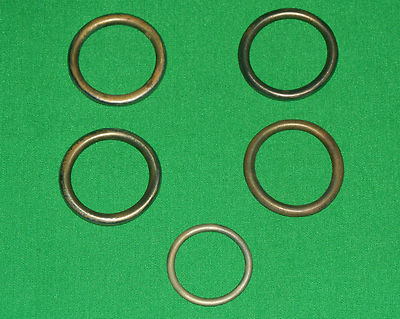 Antique Vintage Horse Tack Bridle Harness Brass Rings 2
