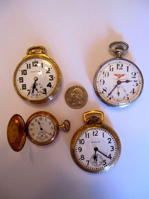 Four Beautiful Antique Pocket Watches