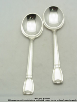 Castilian Sterling Silver Soup Spoons Antique Tiffany