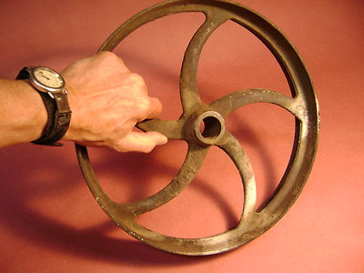 Vintage Pulley Gear Cast Iron Industrial Factory Steampunk 2