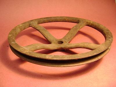 Vintage Industrial Pulley Gear Cast Iron Steampunk Machine Age