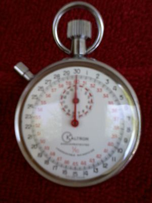 Minty Vintage Kaltron Swiss Made Stop Watch 16 Size Works Perfect