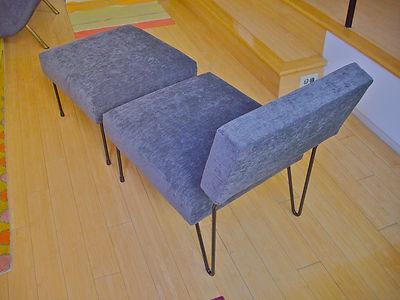 Rare Midcentury Inco Lounge Chair Ottoman Mccobb Schindele Grossman Knoll Era 2