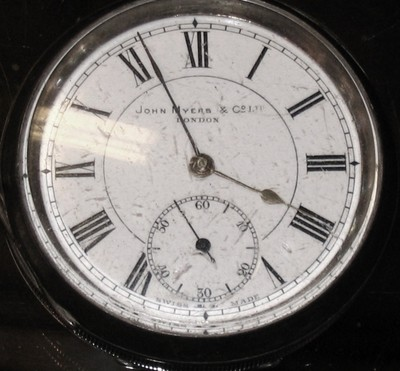 Antique Gents Silver Pocket Watch John Myers