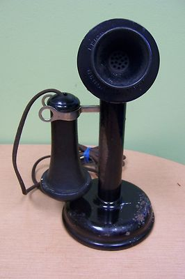 Antique Candle Stick Telephone Leich Electric Co. Genoa