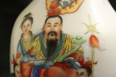 Antique Chinese Famille Rose Large Vase Signed on Base 1