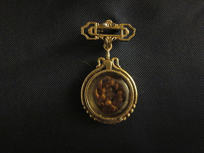 Mourning pin for antique German, French, French Fashion or China doll