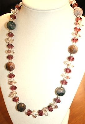Antique Necklace Length In Inches20  Glass Beads Amazing