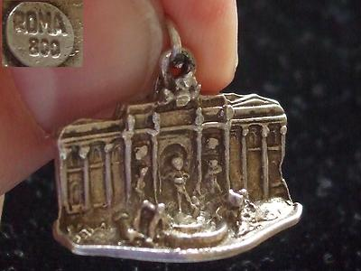Antique Vintage 800 Sterling Silver Roma Rare St Peters Square