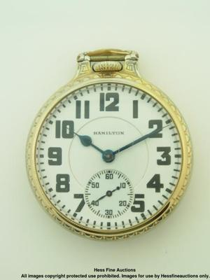Hamilton 992 21J Railroad Antique Mens Pocket Watch