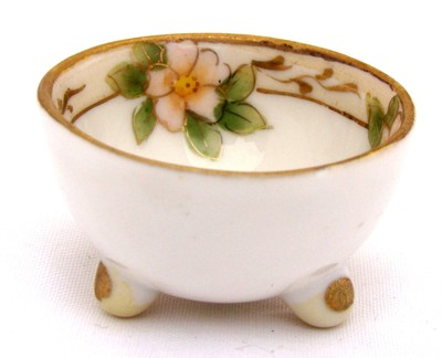 Antique Nippon Open Salt Cellar, Dip, Dish, Bowl