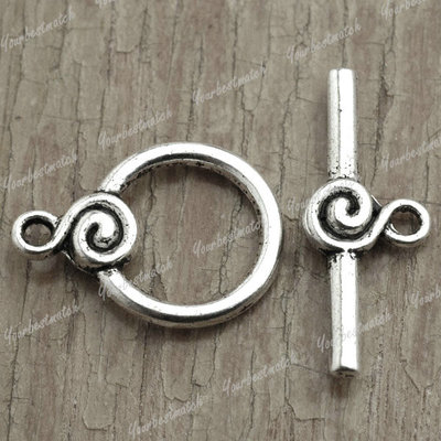 Hot Vintage Tibet Antique Silver Ring Fashion Bar Ring Toggle TS2241