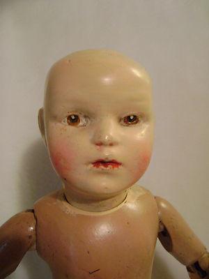 "Antique 18"" Schoenhut Wood Doll 2"
