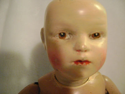 "Antique 18"" Schoenhut Wood Doll 3"