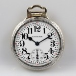Stunning Hamilton 992B RR Pocket Watch in a TWO TONE Bar over crown case
