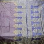 Antique Vintage Weaving 100% Pure Real Silk Fabric Sari SOIE Tissé Saree