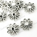 100 Tibetan Tibet Silver Antique Vintage Flower Connector Links Findings TS0062