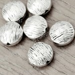 70 Tibet Tibetan Silver Antique Vintage Oblate Spacer Bead Findings TS2517