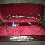 VIntage Antique 12k Gold Filled FulVue Wire Rim Eye Glasses w Case Mt. Vernon