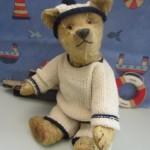 ANTIQUE OLD CHAD VALLEY TEDDY BEAR 1920s AEROLITE I.D. BUTTON UNDER CHIN