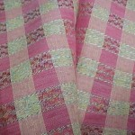 Vintage Antique Chambray Cotton Fabric Tissue Gingham PINK Plaid 32″wide 1800s