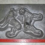 antique original cast iron boston terrier dog doorstops foundry pattern form